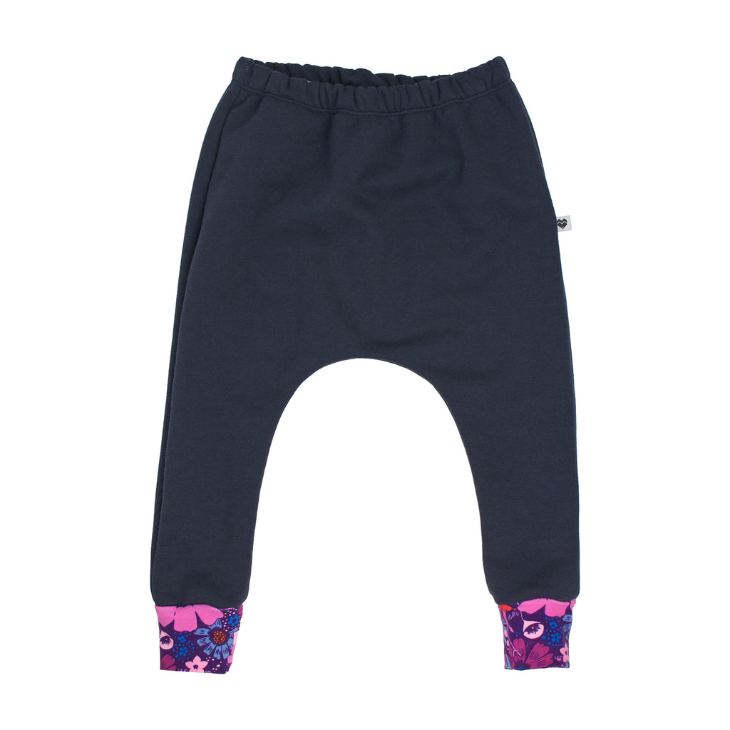 Organic Cotton Fleece Trackies - Essentials Range - Dusk bouquet