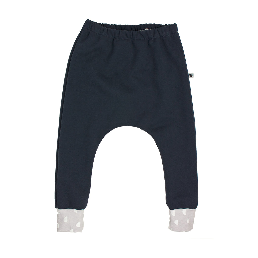 Organic Cotton Fleece Trackies - Essentials Range - Dusk Moons