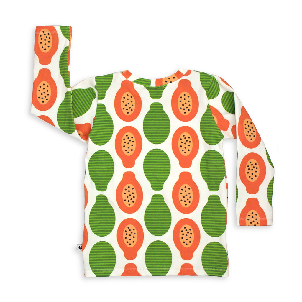 Kids Long sleeve top - Papayas | Handmade in Australia | Moeder Fox