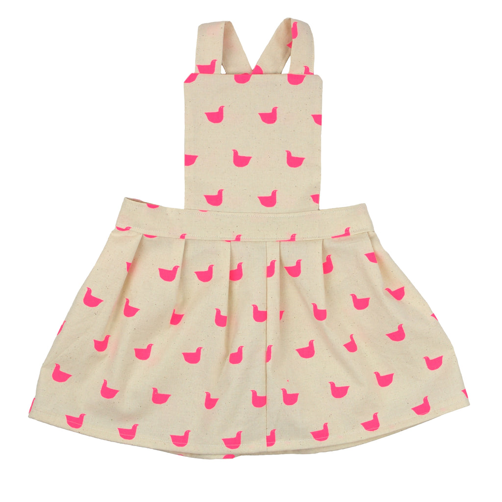 Toddler pinafore dress - Duck Quackers | Handmade in Australia | Moeder Fox