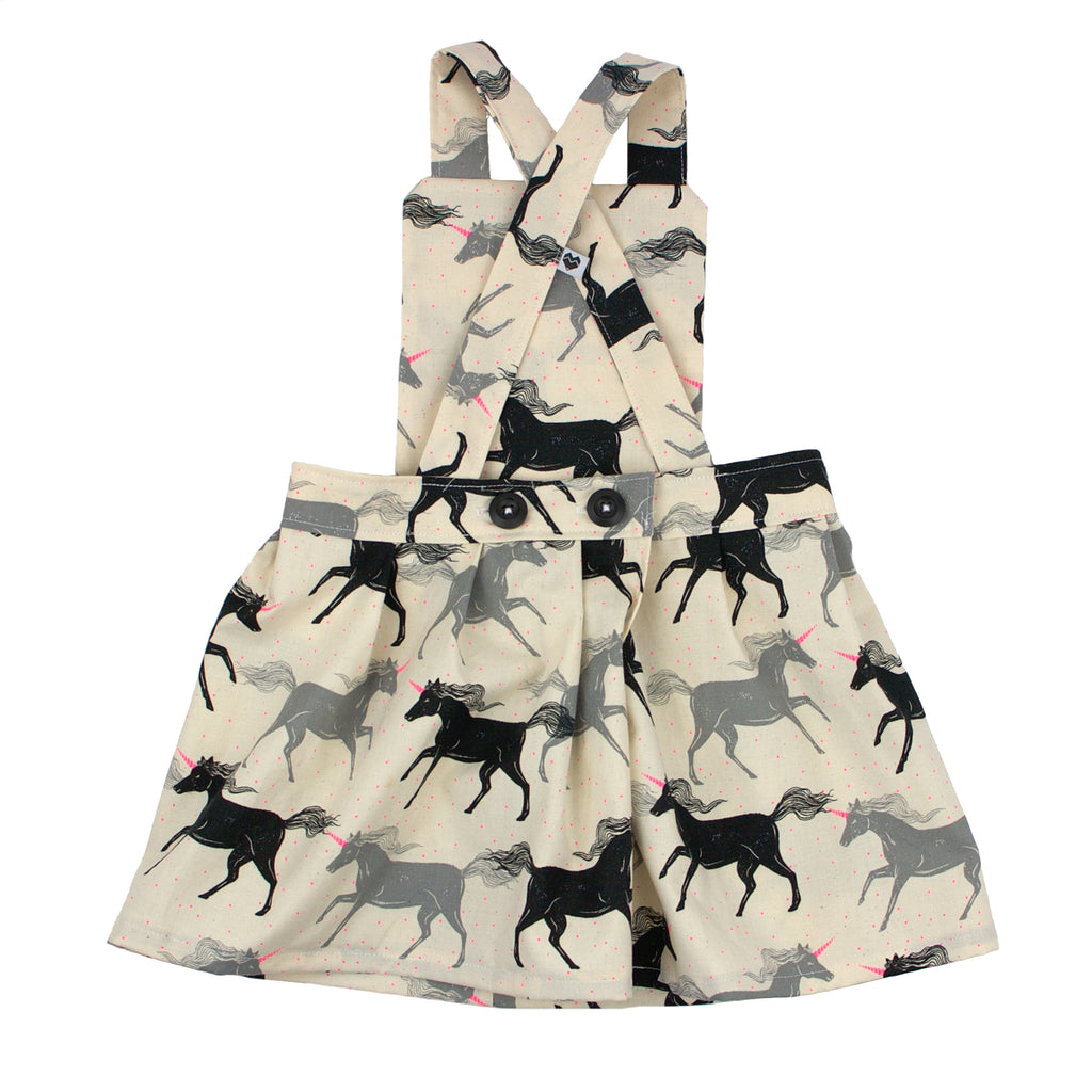 Toddler pinafore dress - Unicorns | Handmade in Australia | Moeder Fox