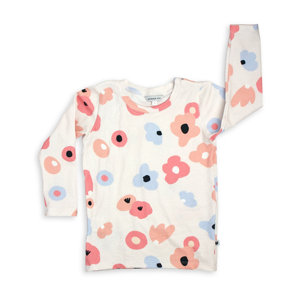 Kids Long sleeve top - Posies | Handmade in Australia | Moeder Fox