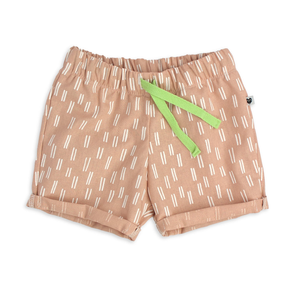 Kids Toddler Shorts - Lines, pink | handmade in Australia | Moeder Fox