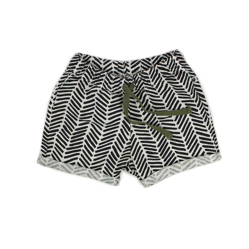 Toddler / Kids shorts | Chevron dashes linen & cotton | Moeder Fox