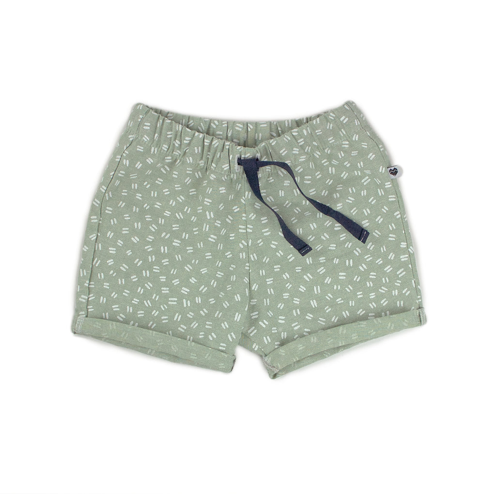Toddler / Kids shorts | Mint dashes linen & cotton | Moeder Fox