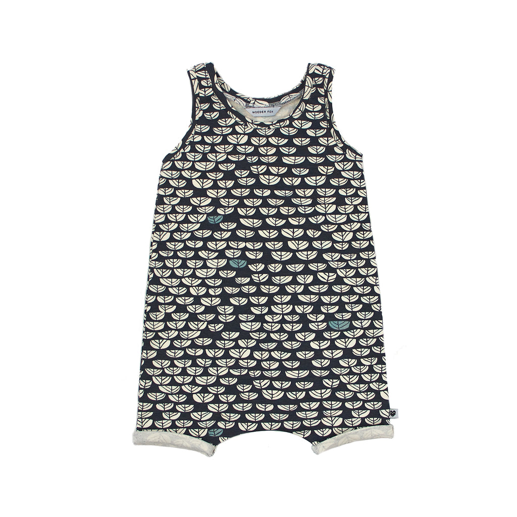 Baby organic summer playsuit - Dusk Sproutlet | Moeder Fox