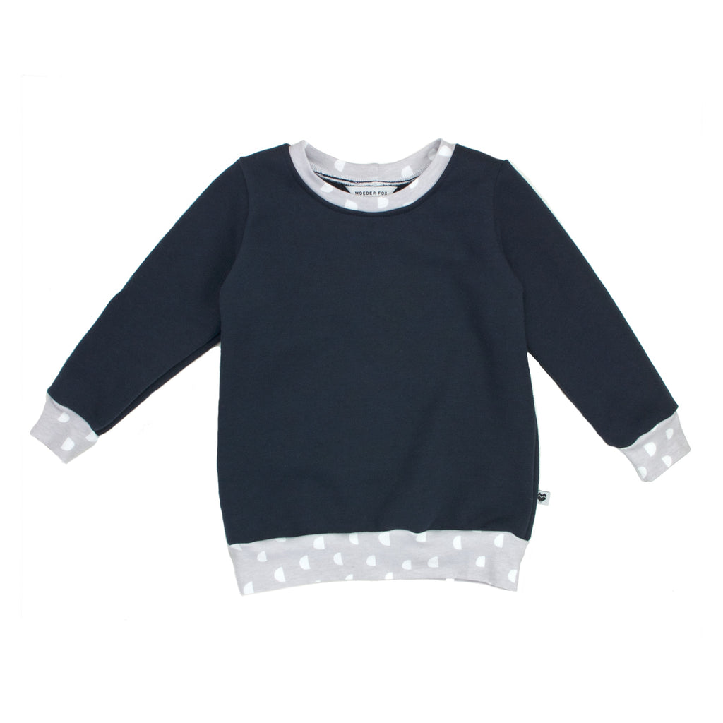 Organic Cotton Fleece Sweater - Essentials Range - Dusk Moons