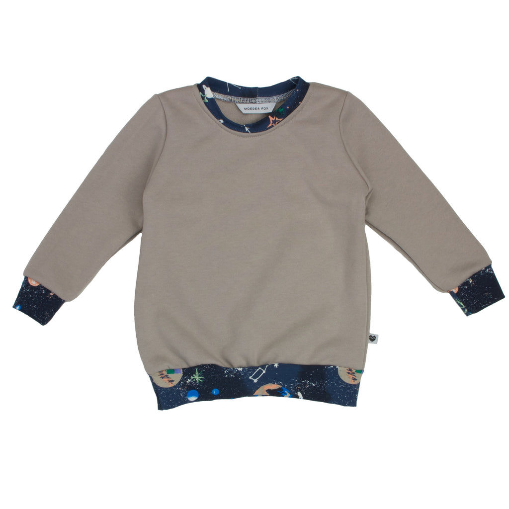 Organic Cotton Fleece Sweater - Essentials Range - Natural Galaxy