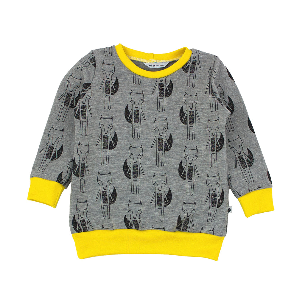 Baby and toddler sweater - foxes | Moeder Fox | Handmade in Australia