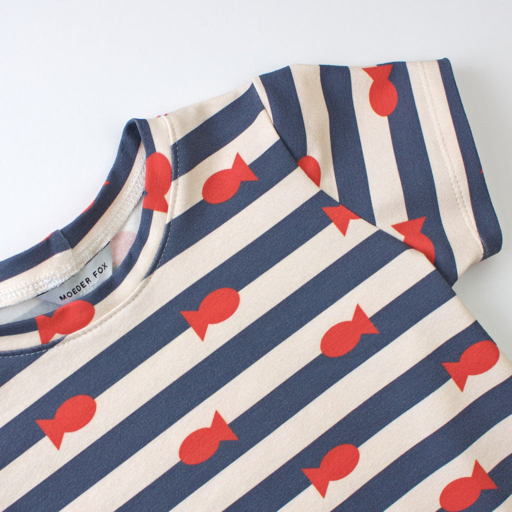 Baby Toddler Kids tshirt | Fishies | handmade in Australia | Moeder Fox