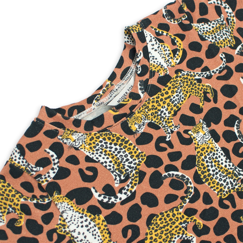 Cotton Jersey T-Shirt - Leopards