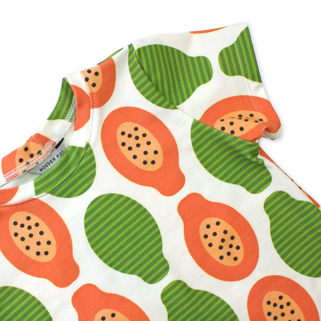 Baby Toddler Kids tshirt | Papaya | handmade in Australia | Moeder Fox