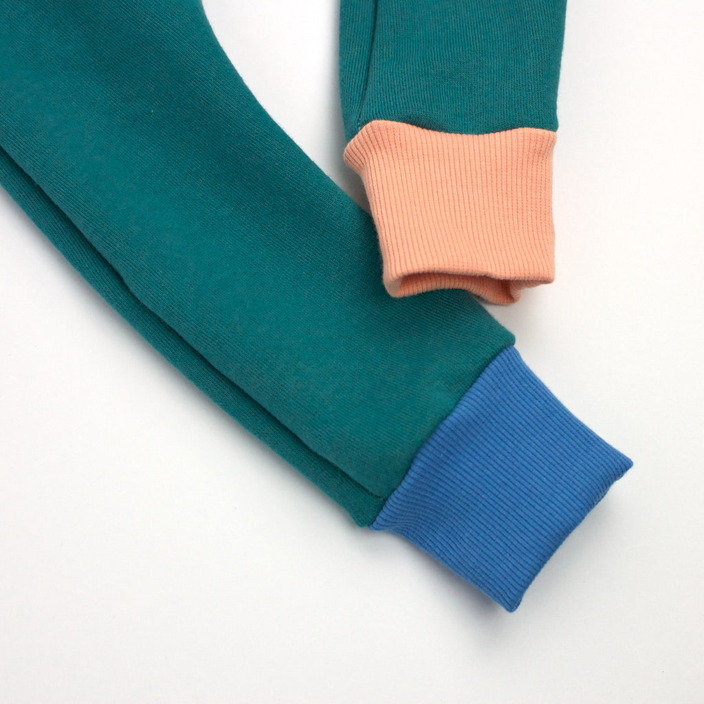 Organic Cotton Fleece Trackies - Teal
