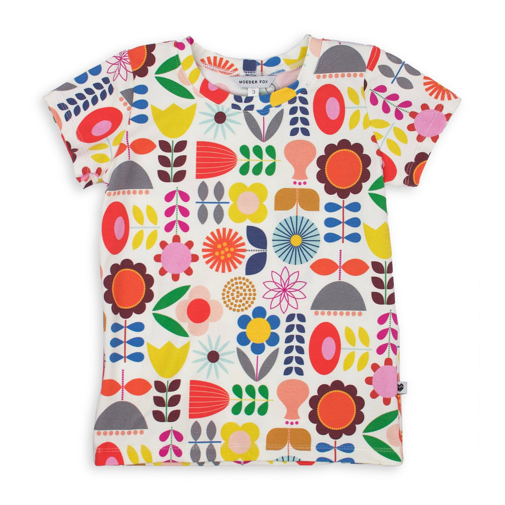 Cotton Jersey T-Shirt - Flowers