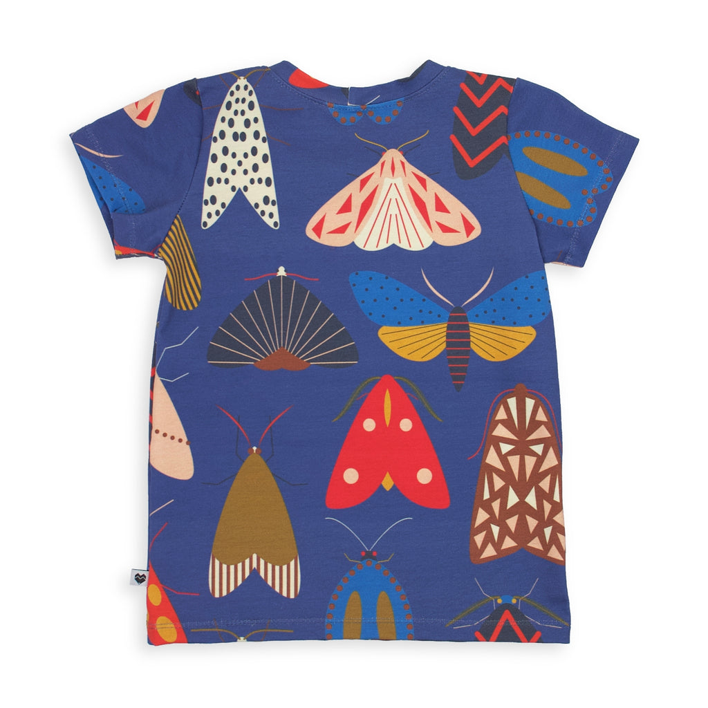 kids tee | moths | handmade t-shirt | Moeder Fox Australia