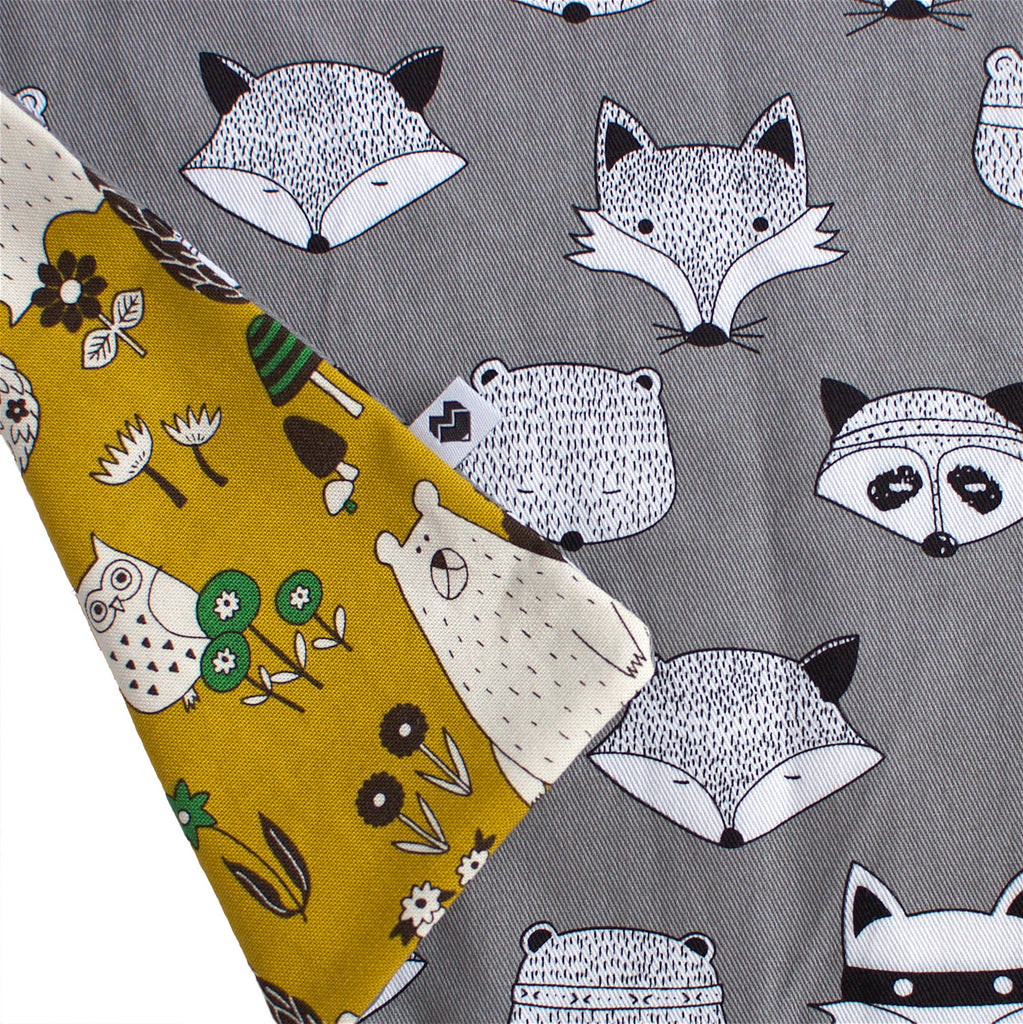 Kids reversible apron | Woodland and Foxes | Moeder Fox