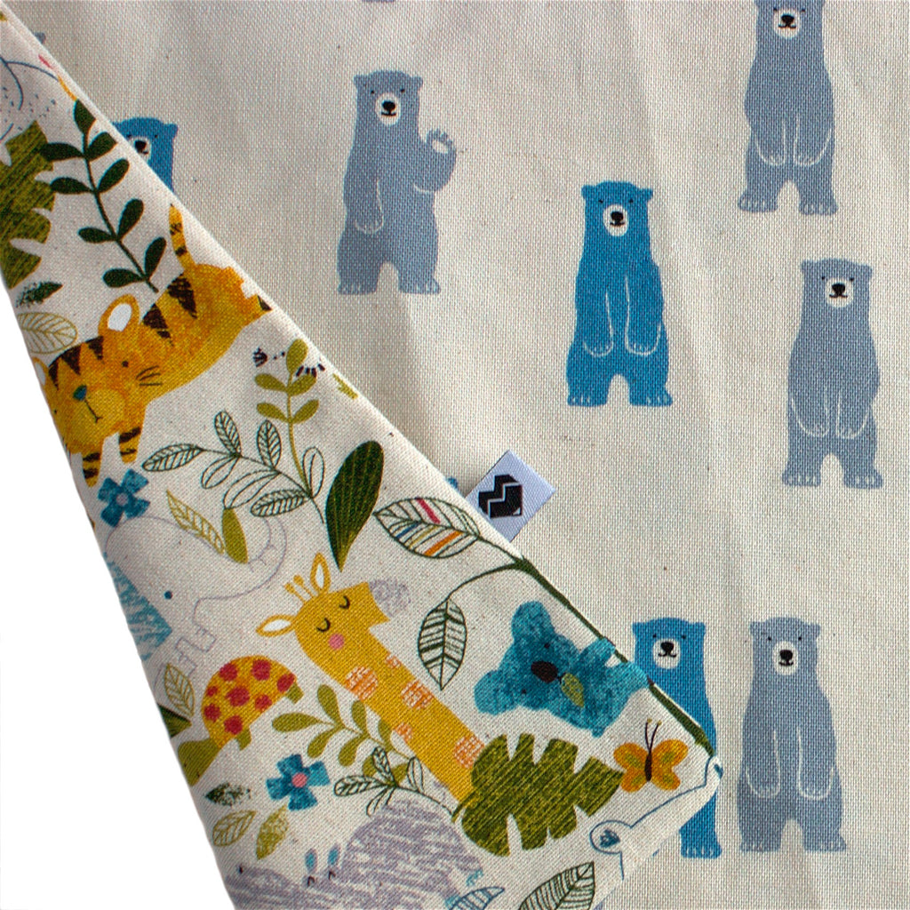 Toddler reversible apron | Jungle Animals & bears | Moeder Fox