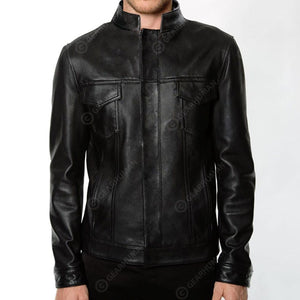 Men 2D Printed Leather Jacket Perfect Example