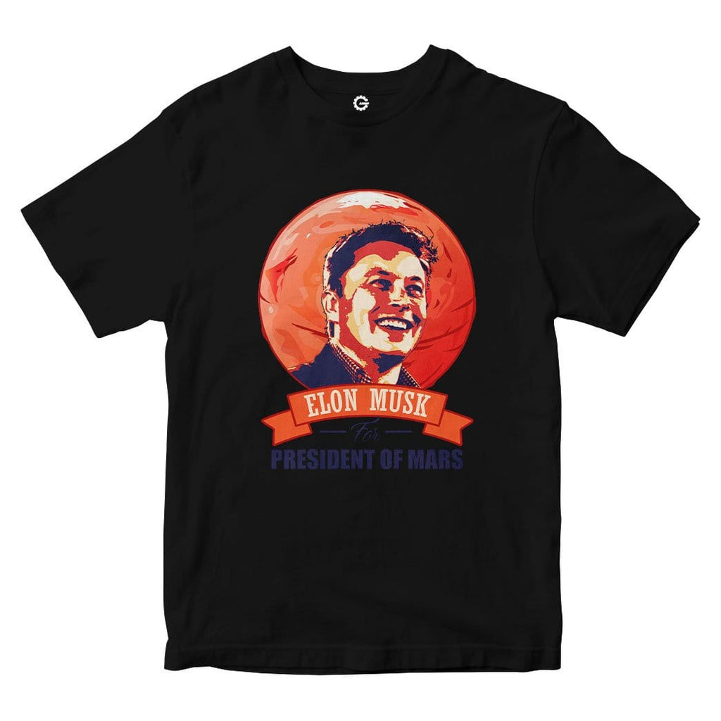 Elon Musk For President Of Mars Custom Men Tshirt