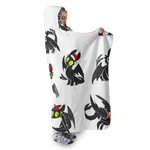 3D Nightfury with Christmas day  Full-Print Hooded Blanket