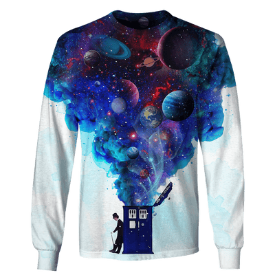 3D Doctor who with planets  Full-Print T-shirt - Hoodie