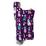 3D Cute cats  Full-Print Hooded Blanket