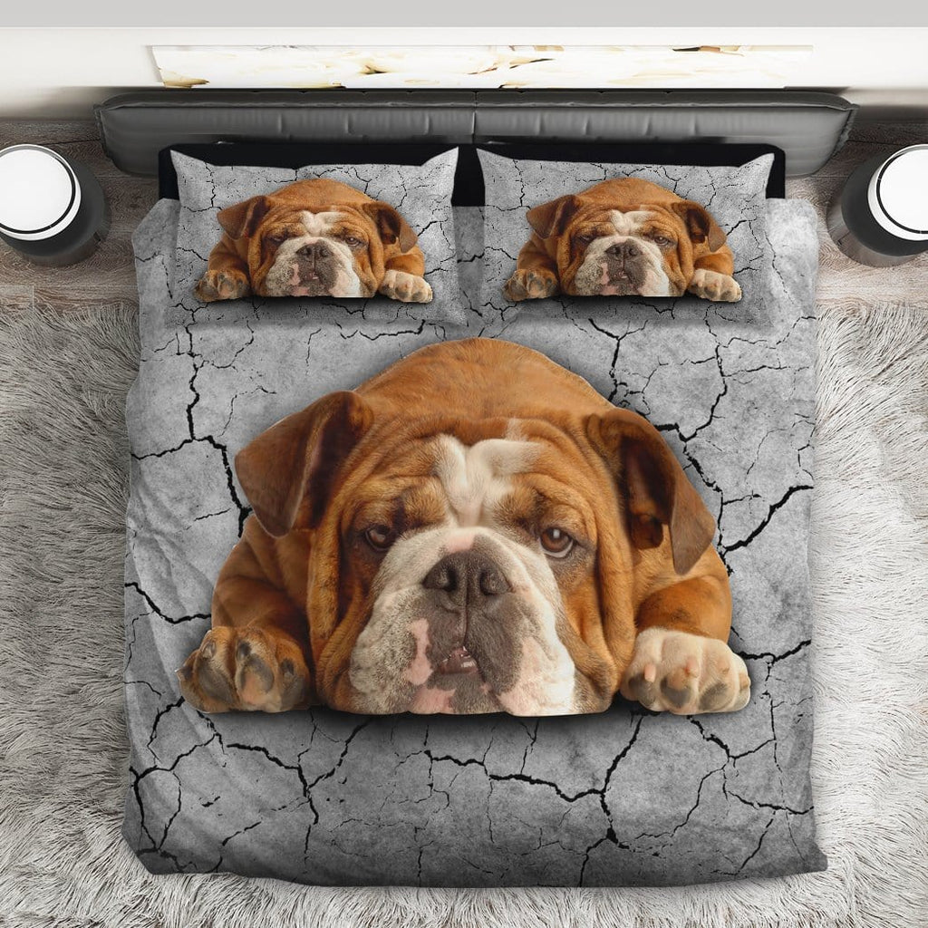 Custom Bedding Set Bulldog In Love