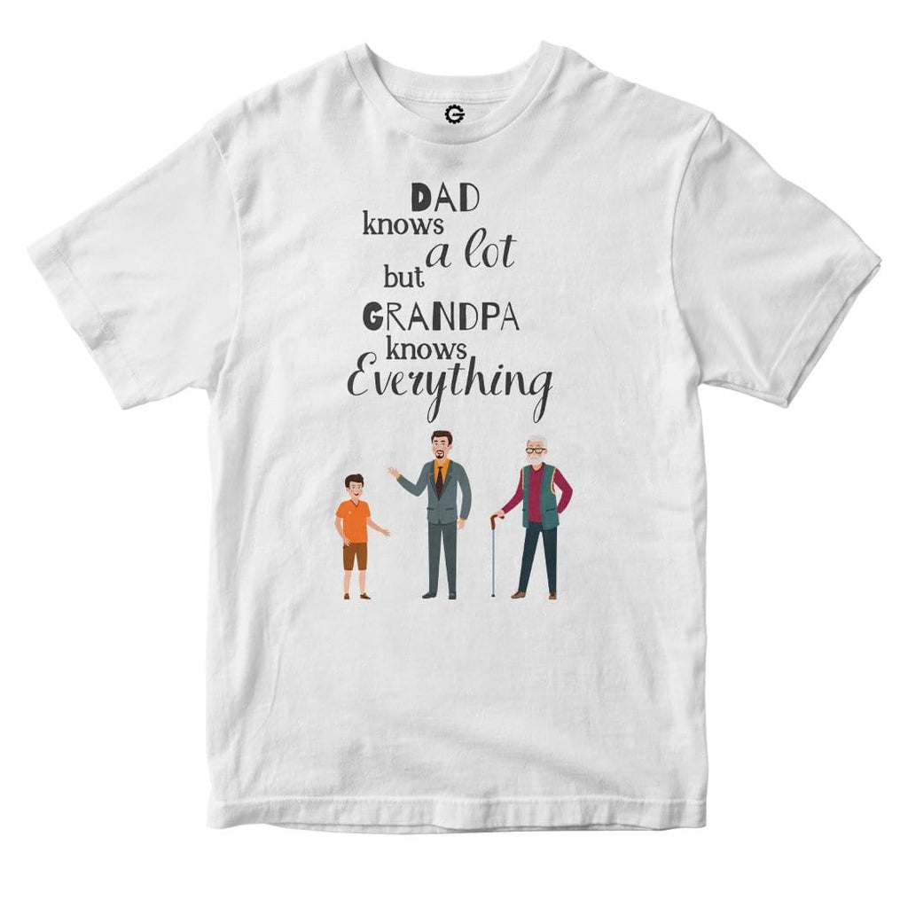 Gearhuman 2D Dad Knows A Lot But Grandpa Knows Everything Custom Tshirt Apparel