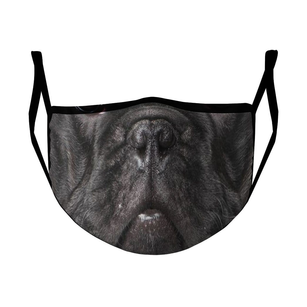 3D French Bulldog Custom 3D Water Proof Fabric Face Mask