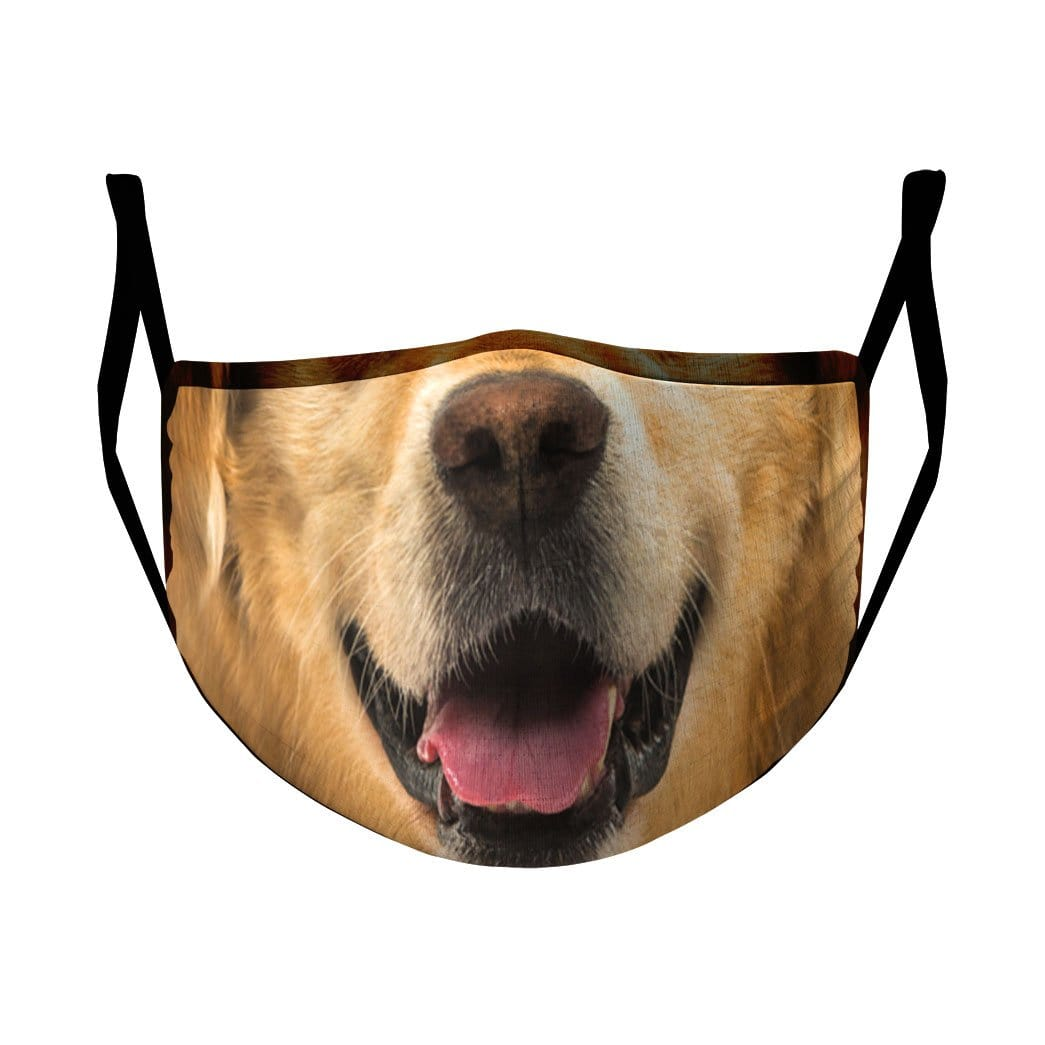 3D Golden Retriever Custom 3D Water Proof Fabric Face Mask