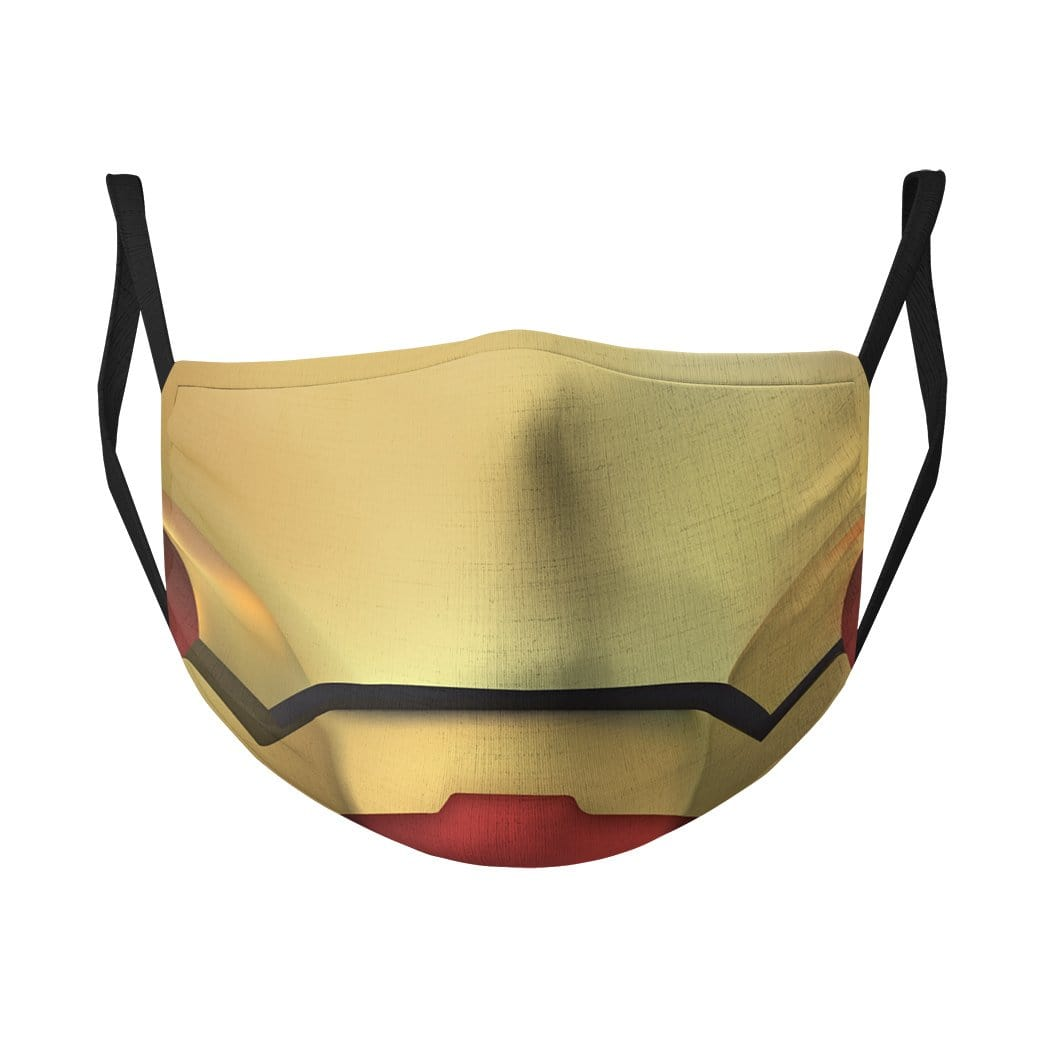3D Iron Man Water Proof Fabric Face Mask