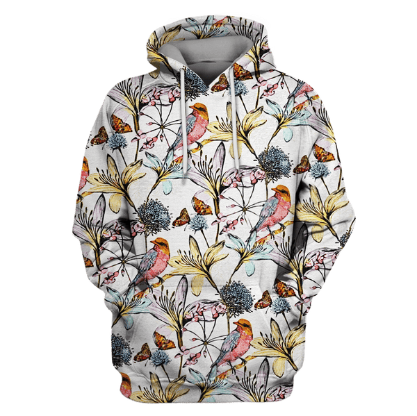 120a513472e2 3D Owl bird with flowers Full-Print T-shirt - Hoodie – Gearhuman