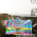 3D Hippie art with umbrella man Full-Print Hooded Blanket