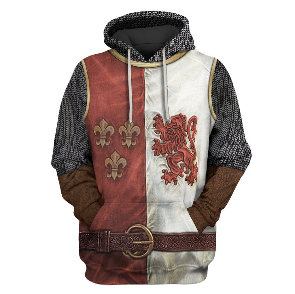 Hoodie hoodie Heraldic Knight Suit Costume Apparel