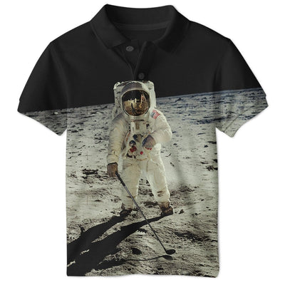 3D ASTRONAUT  Full-Print Polo T-Shirt