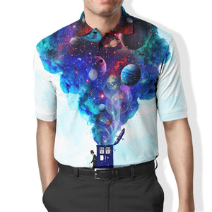 3D DOCTOR WHO WITH PLANETS  Full-Print Polo T-Shirt