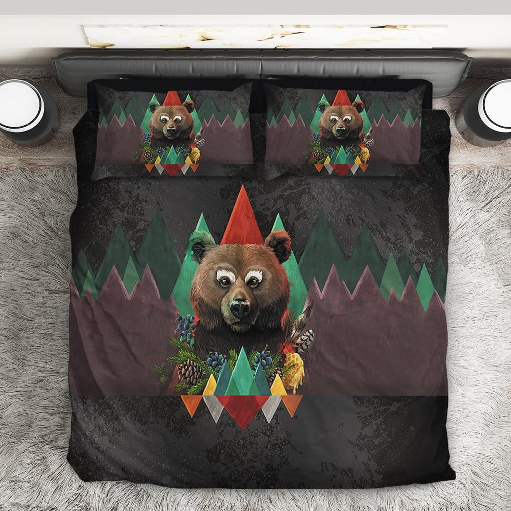Gearhuman 3D Custom Bedding Set Bear of Fall
