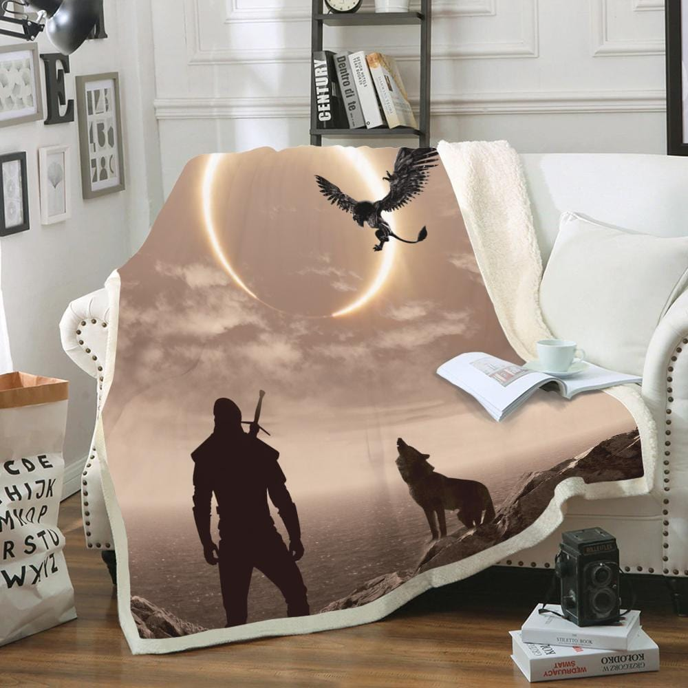 Custom Soft Blanket The Witcher In Solar Eclipse