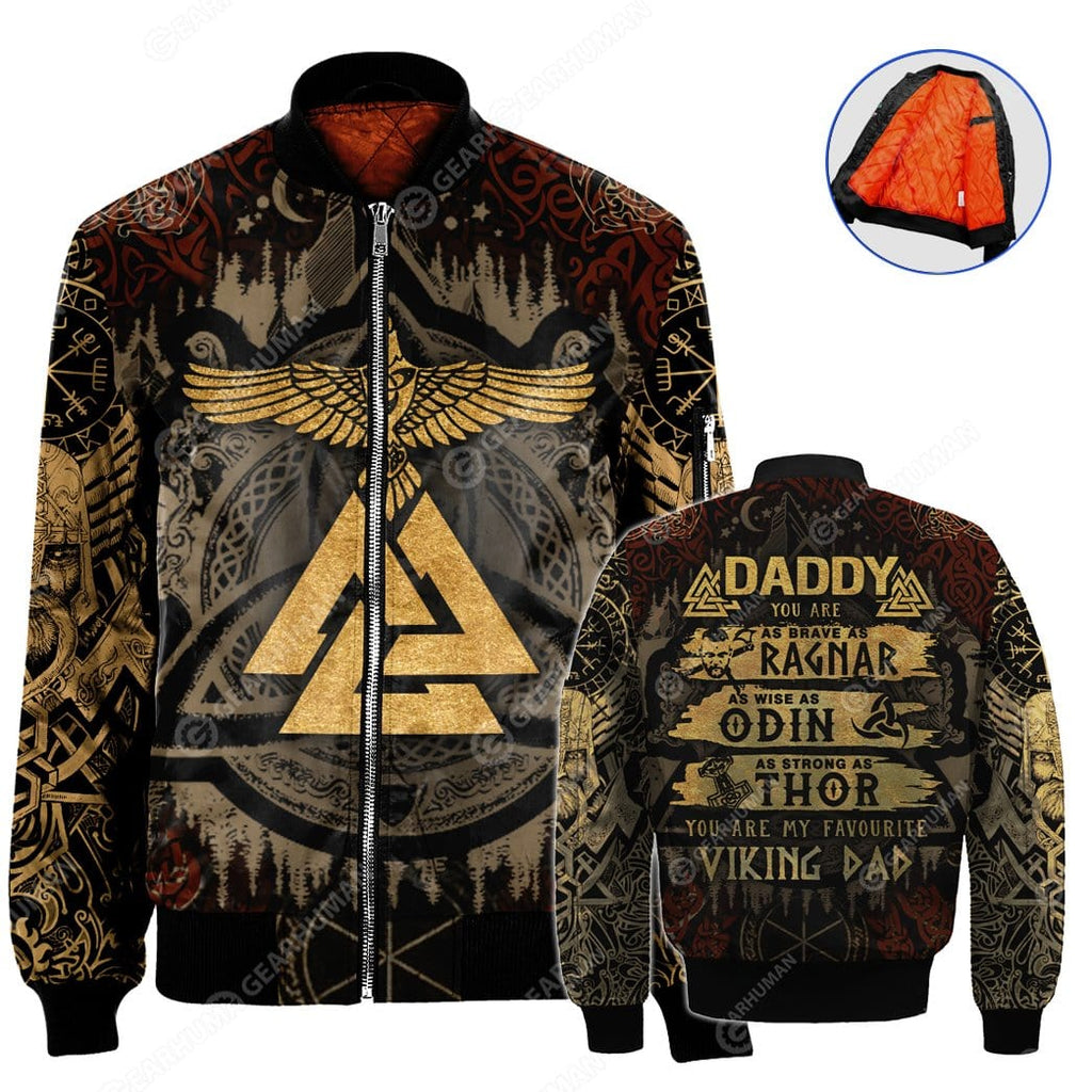 NYLON-BLEND BOMBER JACKET Viking Dad
