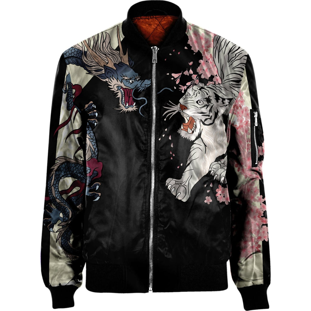 Japanese supernatural creatures NYLON-BLEND BOMBER JACKET Apparel