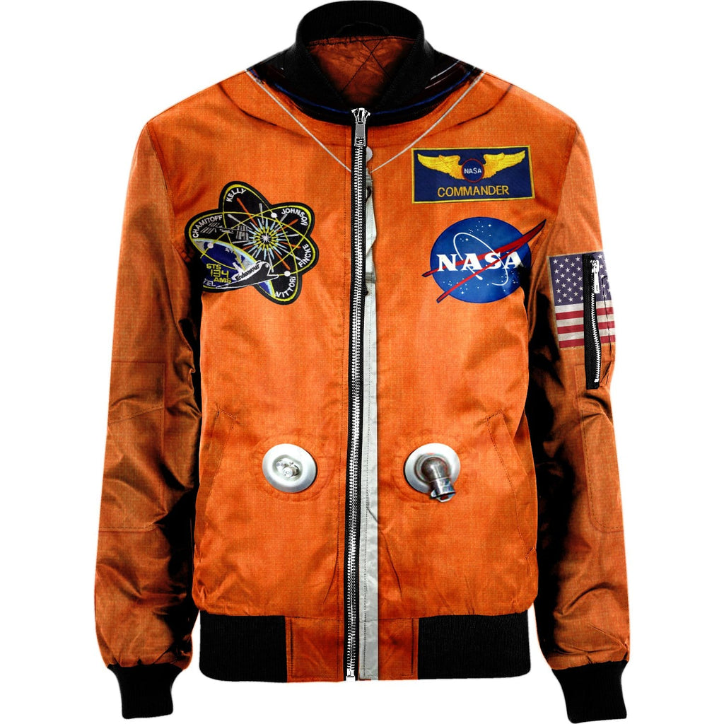 NYLON-BLEND BOMBER JACKET NASA