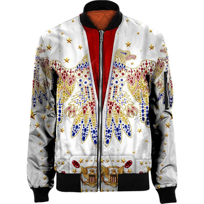3D ELVIS PRESLEY SUIT Nylon-blend Bomber Jacket