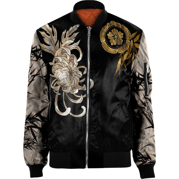 3D Powerful Tiger  NYLON-BLEND BOMBER JACKET