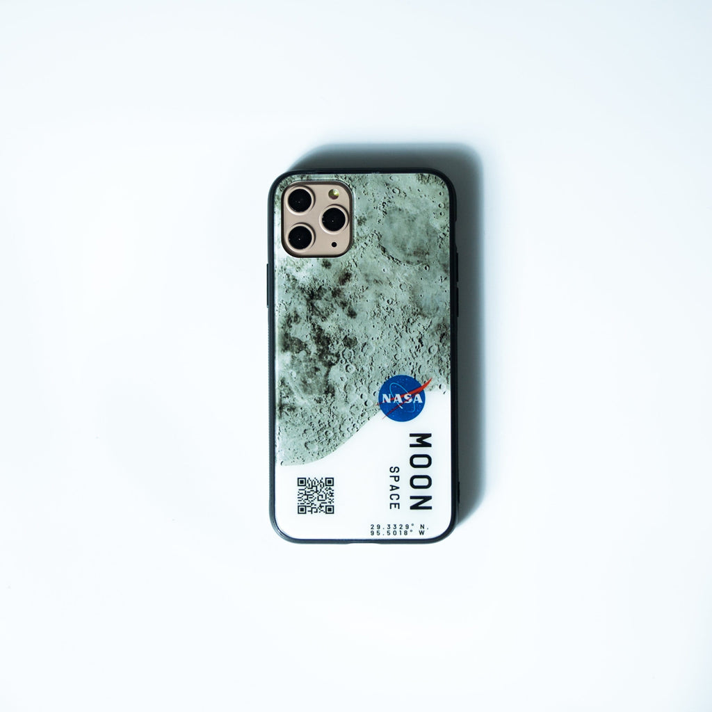 Custom Glass Phone Case Cover Moon Space