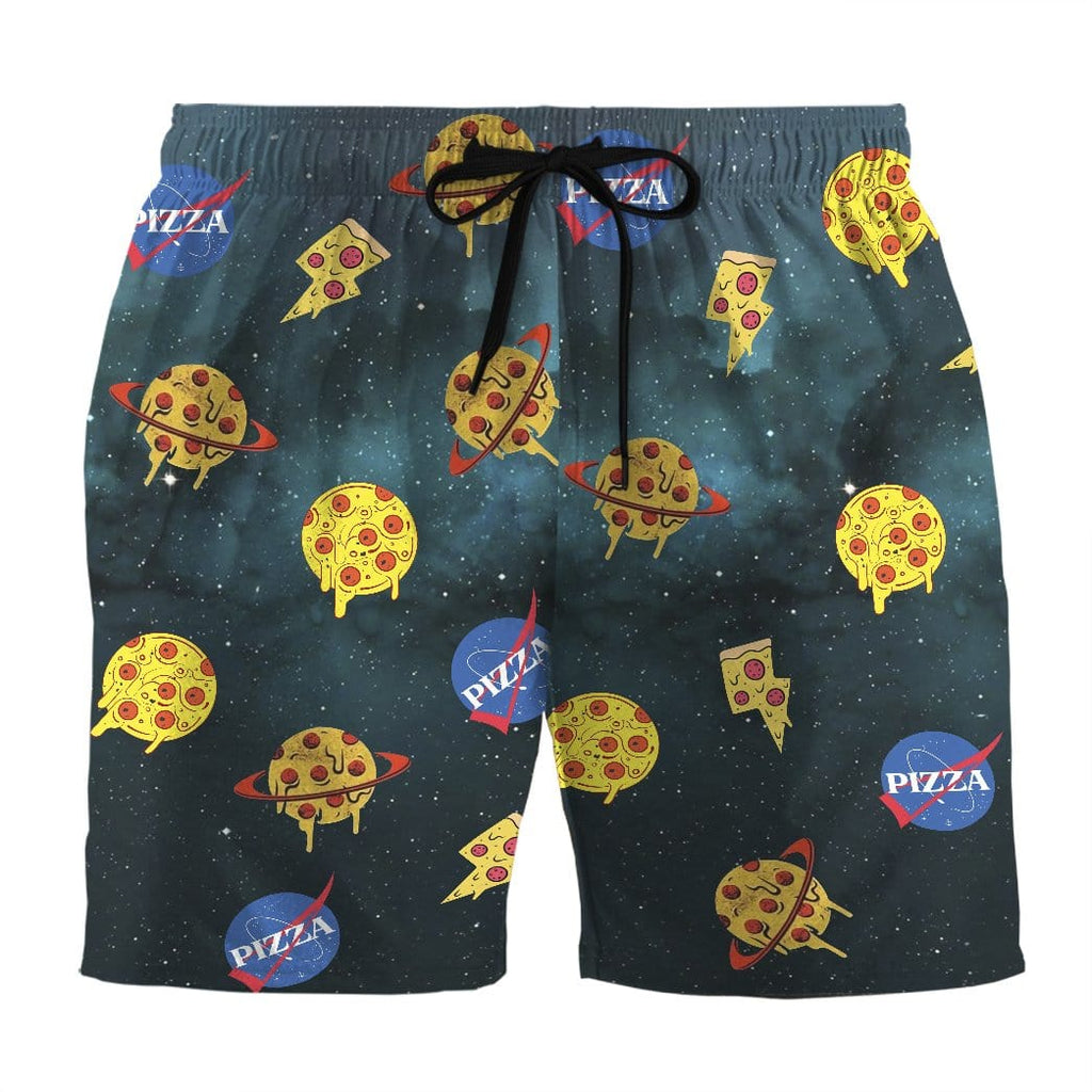 Gearhuman 3D Nasa Mix Pizza Custom Beach Shorts Swim Trunks