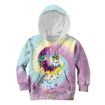 3D Unicorn I love you to the moon and back Full-Print Hoodie T-shirt