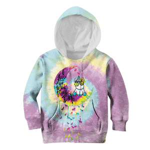 3D Unicorn I love you to the moon and back Full-Print Hoodie T-shirt Apparel