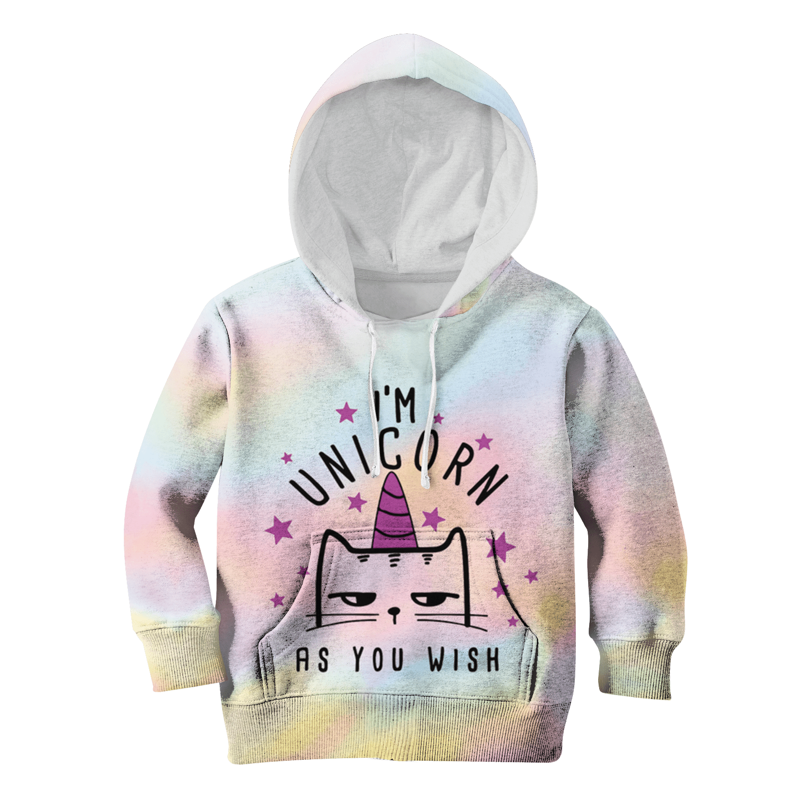 9bb7b3eeb 3D I'm Unicorn As You Wish Full-Print Hoodie T-shirt – Gearhuman
