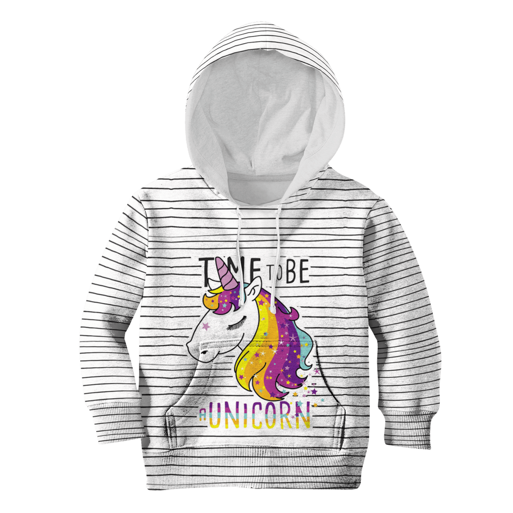 Time To Be A Unicorn Custom Hoodies T-shirt Apparel