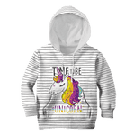 3D Time To Be A Unicorn Full-Print Hoodie T-shirt